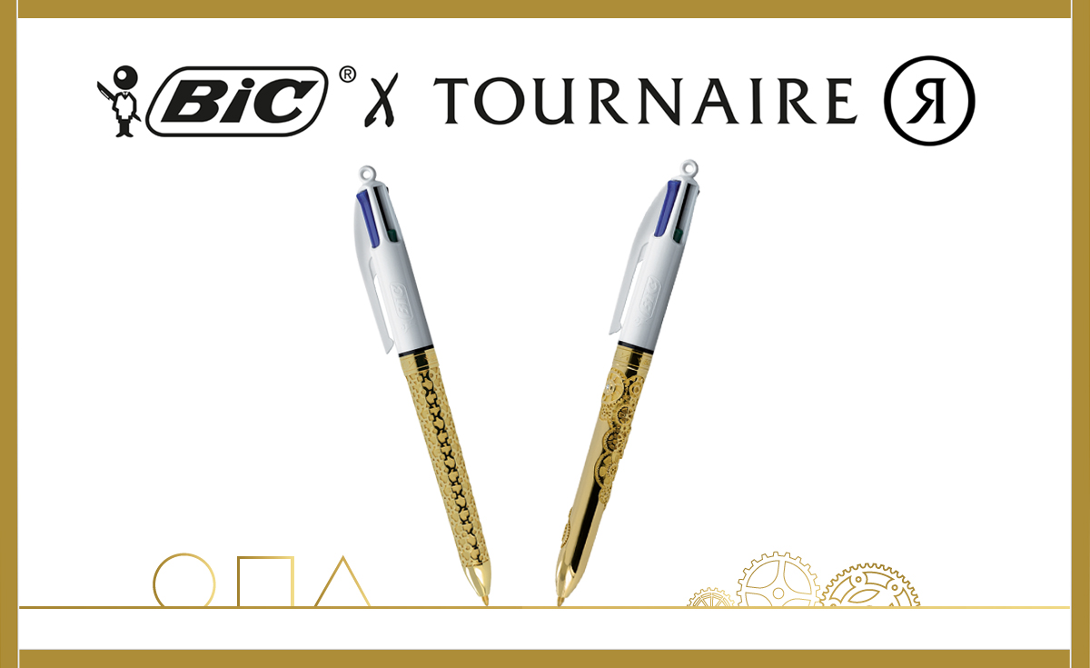 BIC and Tournaire BIC 4 colours pen